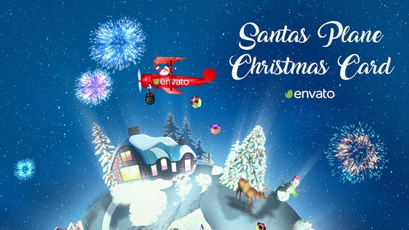 Thumbnail for Santas Plane Christmas Card  | After Effects Template
