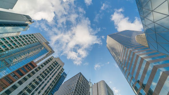 Thumbnail for Glass Business Buildings And Clouds