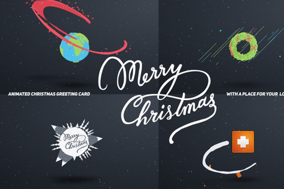 "61 ""christmas card"" Video Templates Compatible with Adobe After Effects"