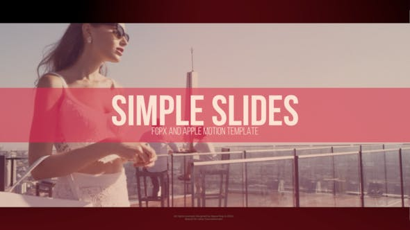 Simple Slides   FCPX or Apple Motion