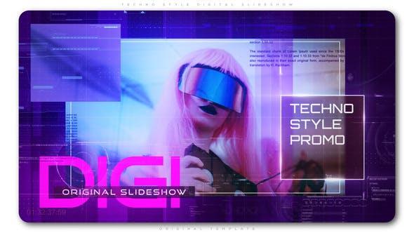 Thumbnail for Techno Style Digital Slideshow