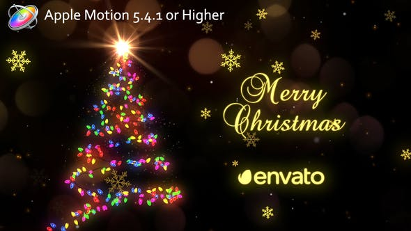 Thumbnail for Christmas Lights - Apple Motion