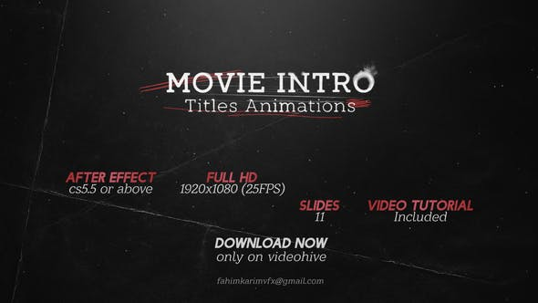 Thumbnail for Movie Intro Titles Animations