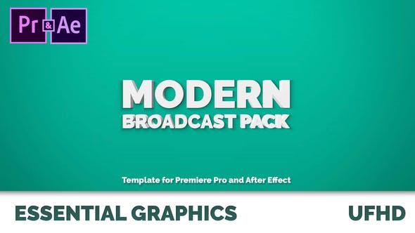 Thumbnail for Modern Broadcast Pack | Essential Graphics | Mogrt