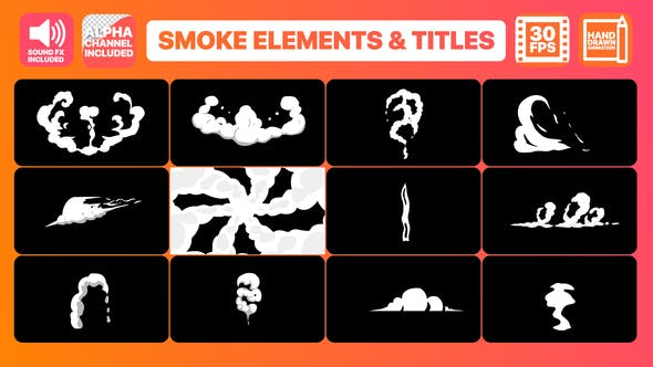 Thumbnail for Hand Drawn Smoke Elements Transitions And Titles