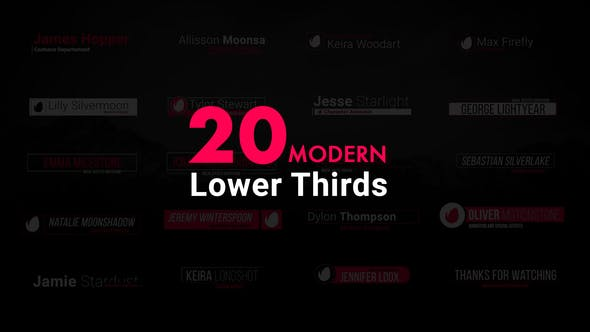 Thumbnail for Modern Lower Thirds