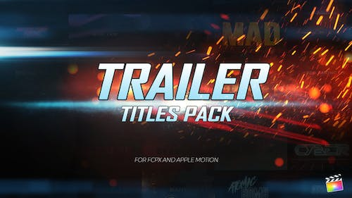 Trailer Titles Pack for Apple Motion and FCPX