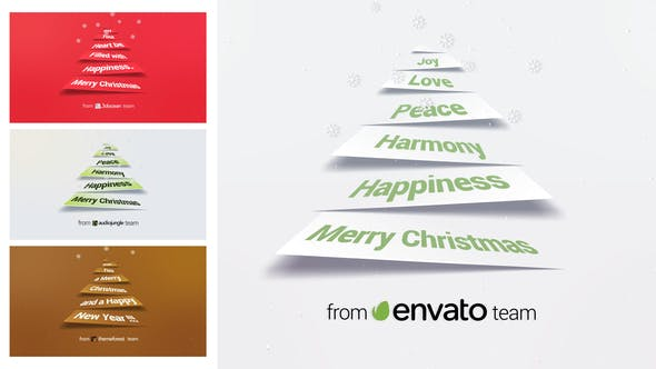 Thumbnail for Corporate Christmas Logo and Message Animation