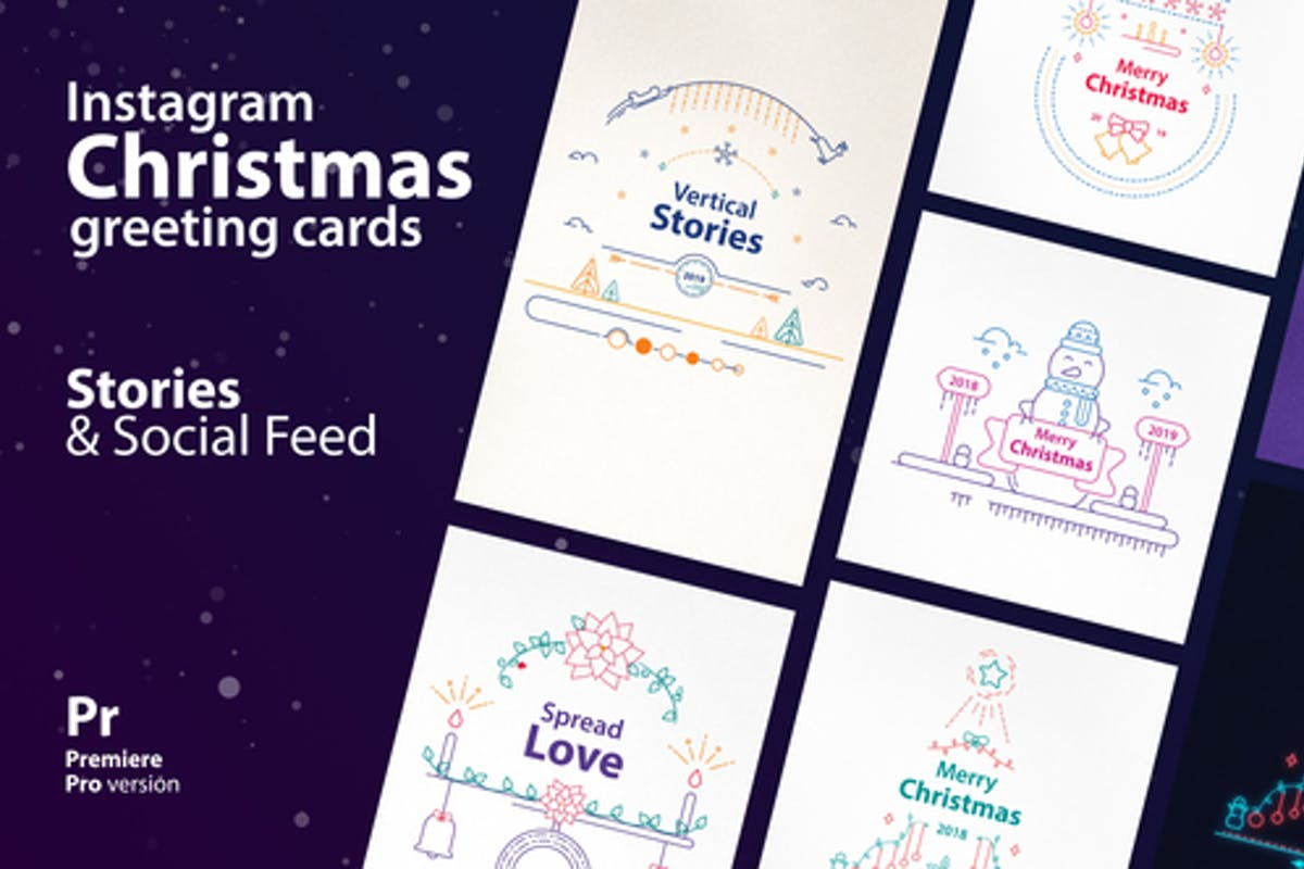 Instagram Christmas Stories by NeuronFX on Envato Elements