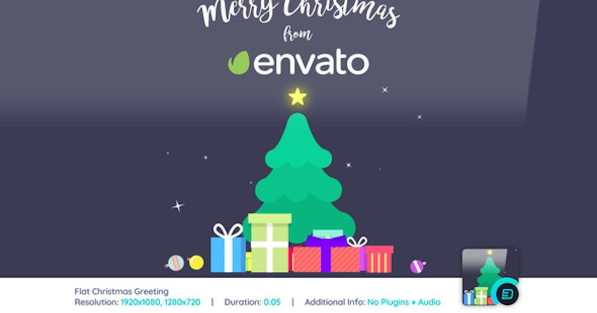 Flat Christmas Greeting von d3luxxxe auf Envato Elements