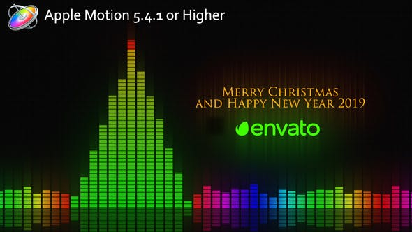 Thumbnail for Audio Meter Christmas Wishes - Apple Motion