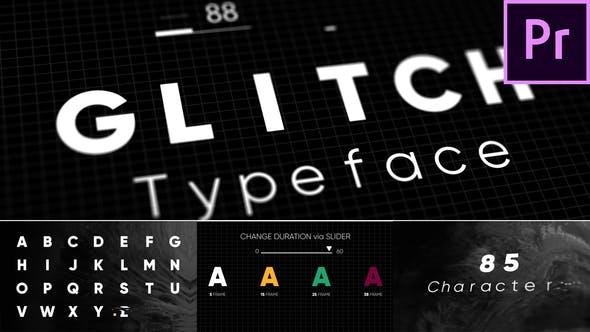 Glitch - Tipo de letra animado