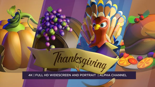 Thumbnail for Happy Thanksgiving 3D