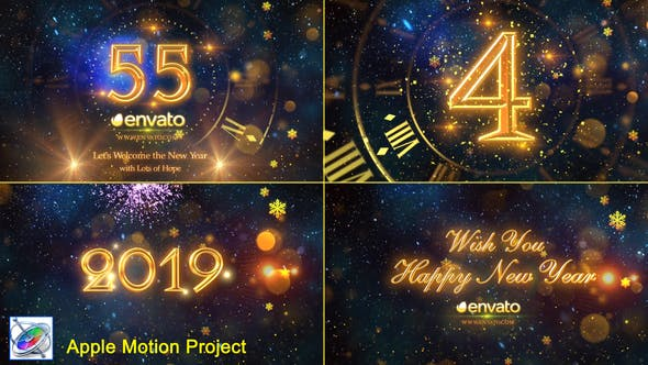 Thumbnail for New Year Countdown 2019 - Apple Motion