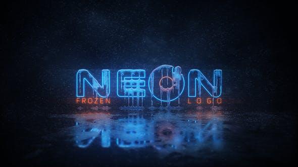 Thumbnail for Logo Frozen Neon
