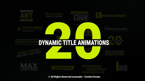 Cover Image for Dynamic Titles