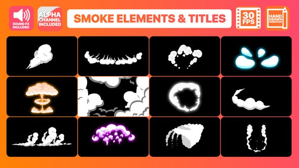 Thumbnail for 2DFX Smoke Elements And Titles