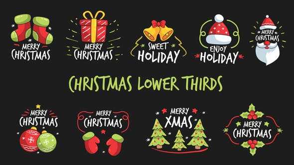 Thumbnail for Christmas Lower Thirds