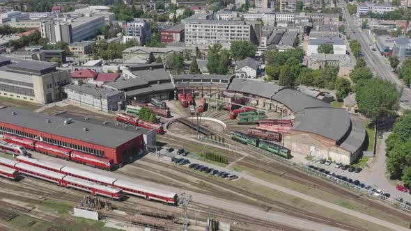 Thumbnail for Train Depot with Diesel Locomotives ready for Maintenance and Service