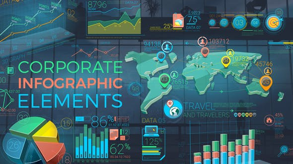 Cover Image for Colorful Corporate Infographic Elements