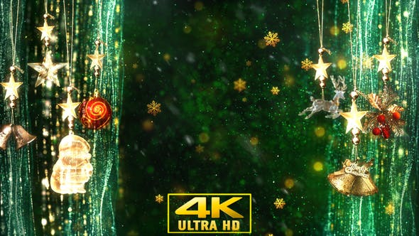 Thumbnail for Christmas Decorations Background 5