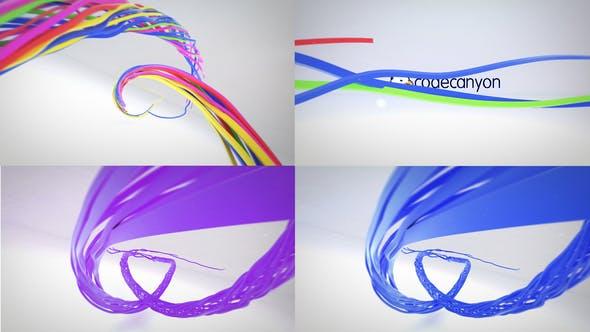 Colorful Ribbon Logo Reveal