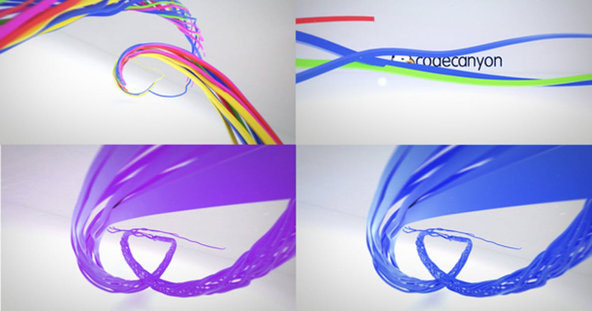 Download Colorful Ribbon Logo Reveal by donvladone
