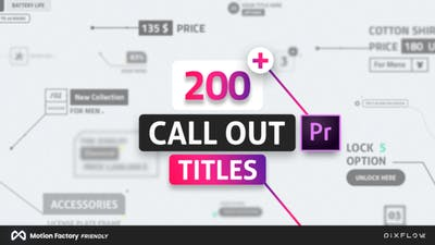 Line Call Out Titles for Premiere Pro