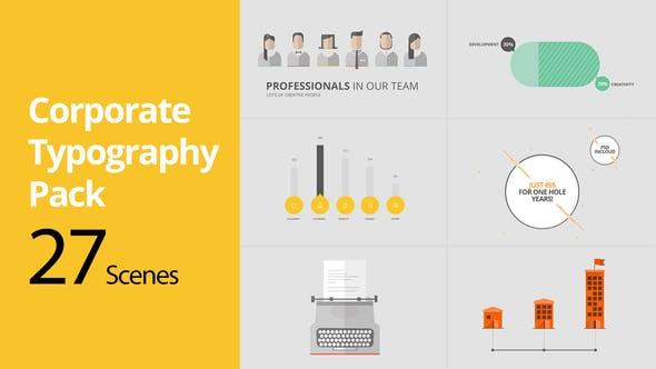 Thumbnail for Paquete de tipografía Corporativa