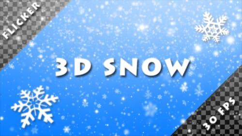 Flicker 3D Snow (Alpha Pack)