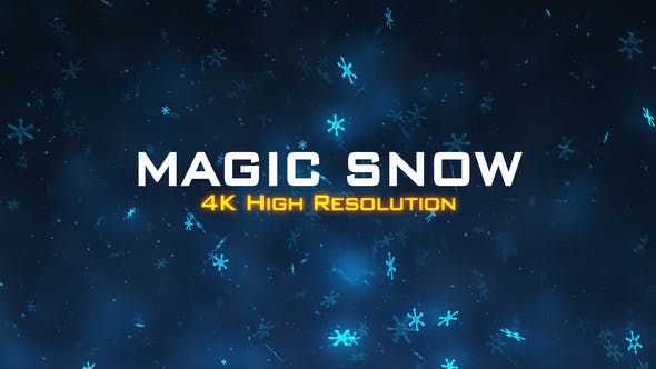 Thumbnail for Magic Snow Background 4K
