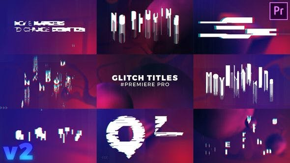 Thumbnail for Glitch Titles Sequence Mogrt