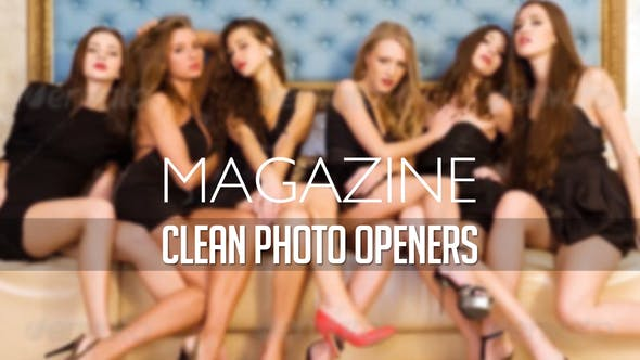 Magazine Photo Opener - Logo Reveal