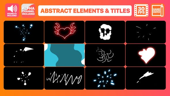 Thumbnail for Flash FX Abstract Elements And Title