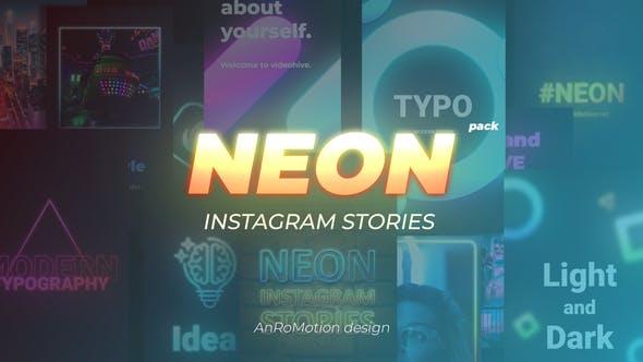 Neon Instagram Stories
