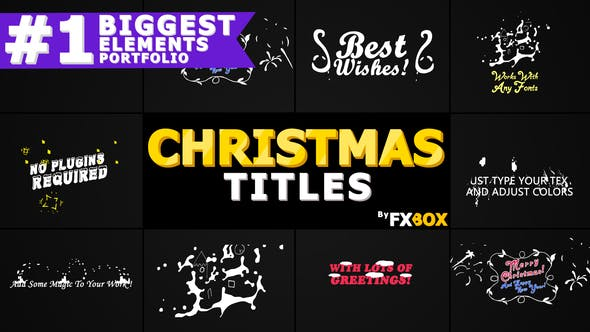 Thumbnail for Christmas Titles And Transitions