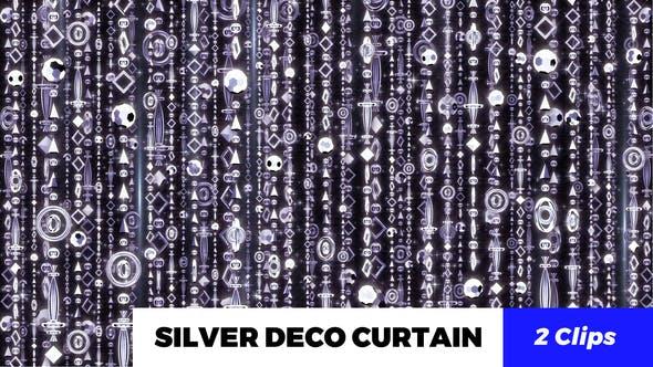 Thumbnail for Silver Deco Curtain