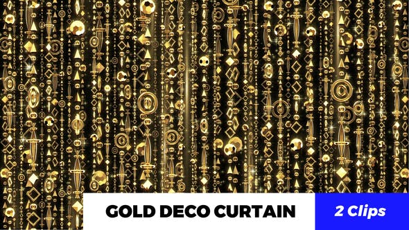 Thumbnail for Gold Deco Curtain