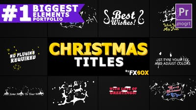 Christmas Titles And Transitions