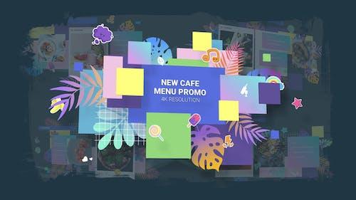 New Cafe Menu Promo/ Restaurant Video Wall/ Instafood/ Food Blog/ Kids Party/ Modern Display/ Bar