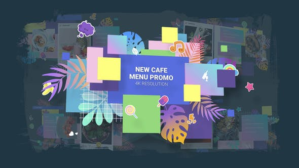 Thumbnail for New Cafe Menu Promo/ Restaurant Video Wall/ Instafood/ Food Blog/ Kids Party/ Modern Display/ Bar