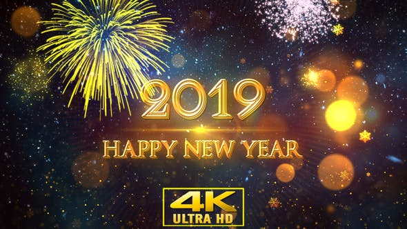 Thumbnail for Happy New Year 2019 Gold