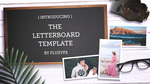 Letter Board Flat Lay Kit
