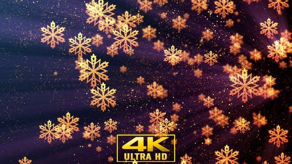 Thumbnail for Christmas Golden Snowflakes 1