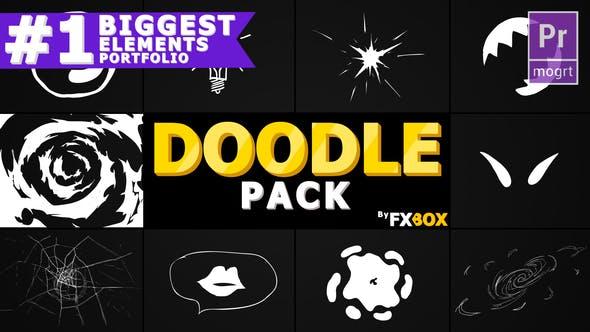 Thumbnail for Flash FX Doodle Elements | Premiere Pro MOGRT