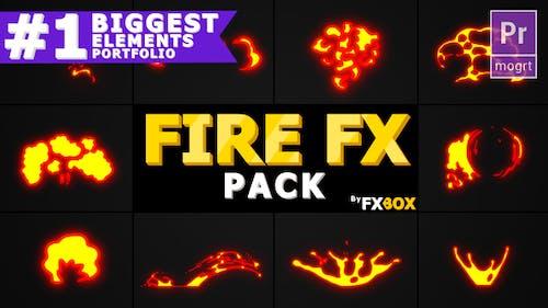 Doodle Fire FX Elements | Premiere Pro MOGRT
