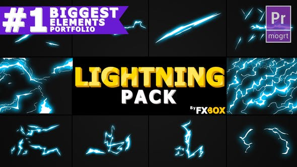 Thumbnail for Flash FX Lightning Elementos | Premiere Pro MOGRT