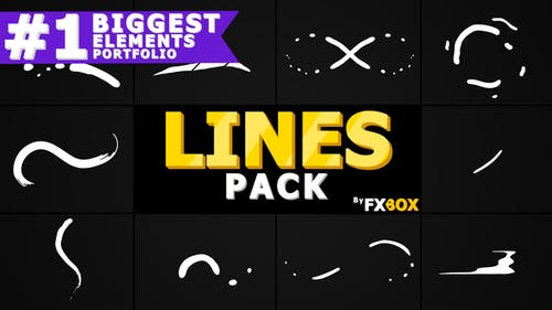 Lignes de forme Flash FX | Pack Graphiques animés