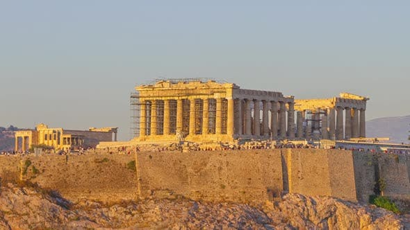 Thumbnail for Cloudless Evening over the Parthenon Zoom
