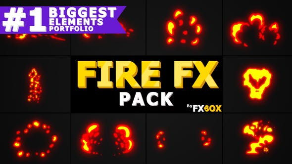 Thumbnail for Fire Elements Pack | Motion Graphics Pack